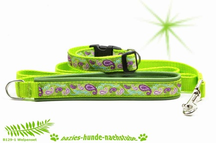 B0129-1 Welpenset Paisley apple